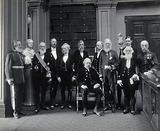 Sir John Evans, bust of Sir Isaac Newton, Lord Kelvin, RB Clifton, GG Stokes, Sir Michael Foster, Lord Lister, Arthur …