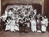 St Bartholomew's Hospital, London: hospital staff in fancy dress