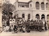 Staff from the Rambagh section of the Karachi Plague Committee, India
