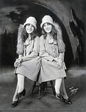 Daisy and Violet Hilton, conjoined twins, dressed to go out