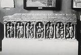 A sarcophagus depicting the miracles of Jesus Christ, displayed at the Archeological museum of Algiers, Algeria