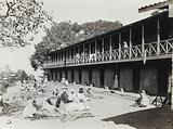 The Pasteur Institute Hospital, Kasauli, India: Indian patients outside the accommodation building