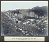 The Pedro Miguel Locks, Panama Canal construction works: looking south from east