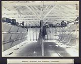 Panama Canal workers' (European) sleeping quarters: interior showing fold-up bunks