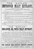 Advert for Kepler, Chemist & Druggist, 1879