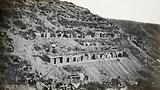 Gallipoli, Turkey: Australian and New Zealand Army Corps (ANZAC) dug-outs on a hillside
