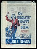 Ephemera collection: Paper bag advertising Bile Beans