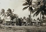 Leper asylum, Guyana (formerly British Guiana): wooden residences for male patients