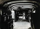 A Swiss hospital train, World War I: interior view of a converted goods train, used to transport severely wounded …