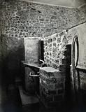 Pompeii: a Roman villa calidarium (hot bath), showing water tanks and pipes