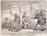 Bethlem Hospital, London: the incurables being inspected by a member of the medical staff, with the patients …