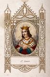 Saint Louis. Coloured engraving