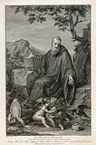 Saint Benedict of Nursia: while he lives as a hermit in a cave near Subiaco, a raven protects him from poisoned bread …