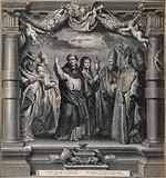 Saint Jerome, Saint Bernard of Clairvaux (?), Saint Dominic Guzman, Saint Clare, Saint Gregory the Great, Saint …