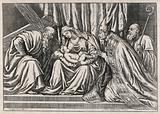 Saint Mary (the Blessed Virgin) with the Christ Child, Saint Augustine of Hippo (?), unidentified saint and Saint …