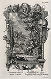 An anatomical depiction of the life and death of a foetus frames Adam alone in the Garden of Eden