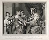 Esther faints before King Ahasuerus