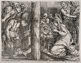 The shepherds observe the newly-born Jesus Christ