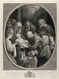 The circumcision of Christ by a bald mohel