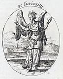 Plate illustrating a personification of 'Curiousity'