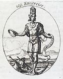 Plate illustrating a personification of 'Exercise'