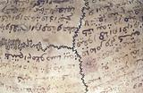 Human skull inscribed with prayers for the deceased