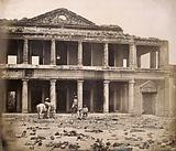 Lucknow, India: the Secundra Bagh interior showing damage done during the Indian Mutiny