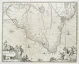 A map of Brazil c 1750