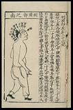 Acupuncture chart: side of the head, Chinese woodcut