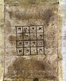 Cabbalistic amulet for safe pregnancy, 18th c Cabbalistic amulet for the safe pregnancy and delivery of Esther, wife …