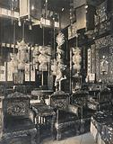 The 1904 World's Fair, St Louis, Missouri: the Chinese pavilion: decorative furniture, lamps and other interior …