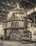 The 1904 World's Fair, St Louis, Missouri: a Missouri exhibit of a dome partly constructed from ears of corn