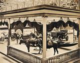 The 1904 World's Fair, St Louis, Missouri: a Brazilian transportation exhibit displaying model horses and cattle