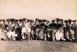 Pietermaritzburg, South Africa: African warriors preparing to dance