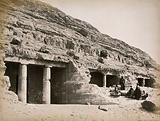 Beni Hassan, Egypt: entrance to the caves