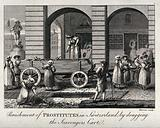 Prostitutes in Bern (Berne) being punished by collecting night-soil in the streets