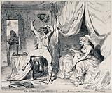 The maid bringing in the breakfast finds the Prince of Wales and Mrs Fitzherbert in a dishevelled state on the morning …