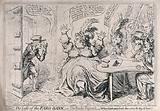 While Lady Buckingham is gambling with her cronies, her husband enters to report the theft of the bank