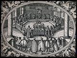 Members of a council, senate or tribunal in session