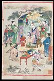 The Yellow Emperor transmits medical books to Lei Gong