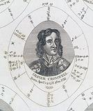 Astrological birth chart for Oliver Cromwell, Lord Protector of England