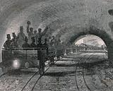 A trial journey on the first part of the underground railway in London