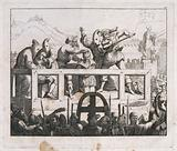 A crowd is watching Count Cenci's murderers being tortured and executed