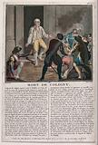 Massacre of Saint Bartholomew's Day: Gaspard de Coligny is stepping out of his house about to be killed by a marauding …