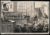 Episodes in the trial of Dr G H Lamson (the Wimbledon poisoner) at the Central Criminal Court in 1882