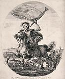Death astride his horse is the hero of the battlefield