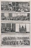 Various rites and cermonies for the burial of a pope, including the catafalque during the funeral and the funeral …