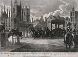 The funeral procession of Charles James Fox passing through Palace Yard in London