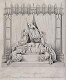 Cenotaph commemorating Princess Charlotte Augusta in St George's Chapel in Windsor