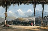 Colombia: a covered passage providing a prospect of the Cordillera mountains across a ravine